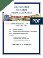 INSTALACIONES SANITARIAS (Habilitacio Urbana)