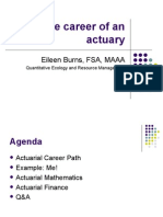The Career of an Actuary