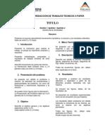 Formato Trabajo Tecnico o Paper