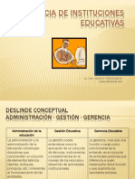 Gerencia de Instituciones Educativas Leccion 2