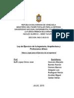 Ley de Ejercicio de La Ingeniería Arquitectura y Profesiones Afines