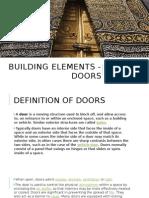 Building Elements - Doors