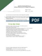 ENSINO FUNDAMENTAL II Prova Do 7 Ano de Portugues