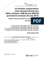 004 Impairment benefits compensation claims for NIHL 2010