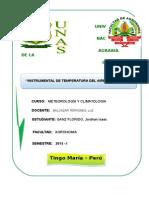 INSTRUMENTAL DE TEMPERATURA DEL AIRE Y DEL SUELO
