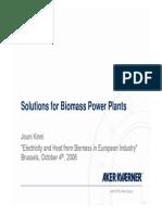 Bio Mass Fuel Power Plant Design