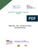 Manual de Inversiones Forestales