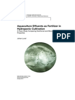 Aquaculture Effluents as Fertilizer in Hydroponic Cultivation