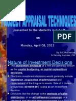 Project Appraisal Techniques.PPT