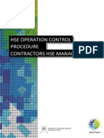 HSE Control of Contractors