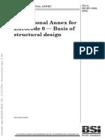 Eurocode 0 - Basis of Structural Design (UK Annex)