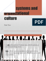 Social Systems and Organizational Culture