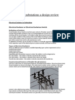 Type of Substations a Design Review