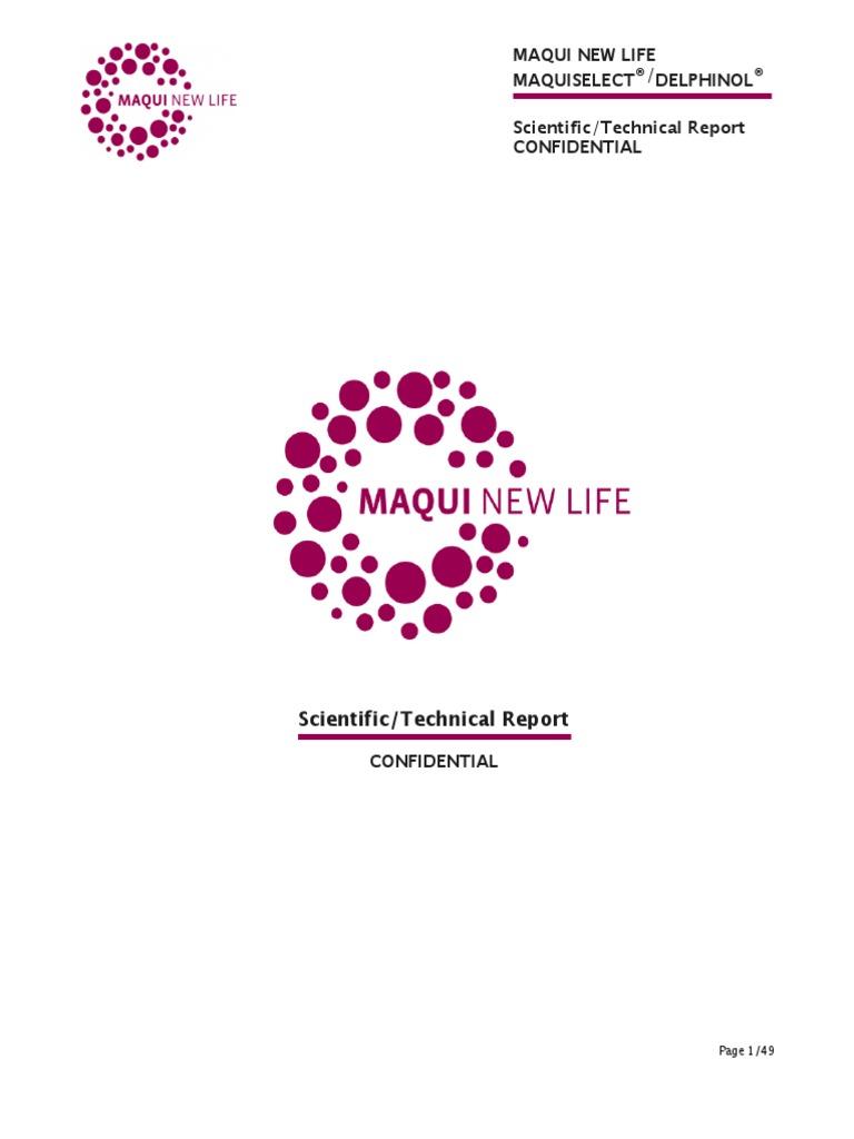 Maqui Select Technical Report.pdf | Blood Sugar | Diabetes Mellitus