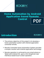Home Automation by Android Application Based Remote Control
