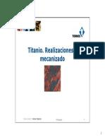 Titanio Realizaciones y Mecanizado