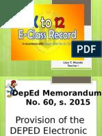 E Class Record Presentation