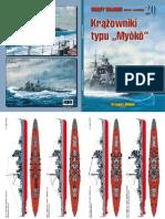 """Grzegorz Bukała - Krążowniki typu """"Myoko"""" - Okręty Wojenne 20 numer specjalny"""