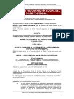 Ley de La Procuraduria Social Del Distrito Federal