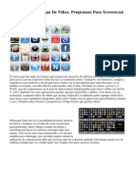 Programas De Atrapa De Video, Programas Para Screencast (Tutoriales)