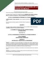 Ley de La Universidad Autónoma de La Ciudad de México