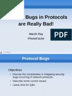 Usenix Security 2010 Protocol Bugs