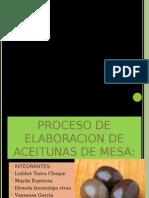 Diapositivas de  fermentacion de Aceitunas de Mesa
