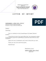 Intent Letter