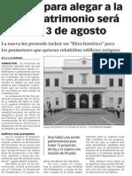 150722 La Verdad CG- El Plazo Para Alegar a La Ley de Patrimonio Será Hasta El 3 de Agosto p.10