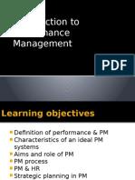 Performance Management Intro
