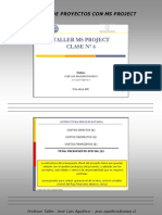 Microsoft Project Clase 6