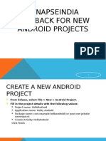 SynapseIndia Feedback for New Android Projects