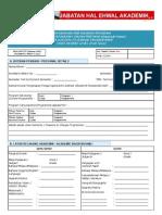 Borang Pertukaran Program -A142