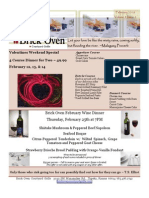 Valentines Weekend Special 4 Course Dinner For