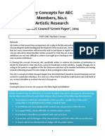 AEC Key Concepts of Artistic Research