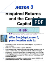 Lesson03 Required Returns and the Cost of Capital