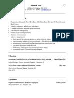 rosae calvo resume 7-2015