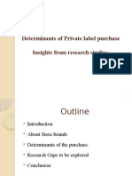 Determinants of Private Label Purchase