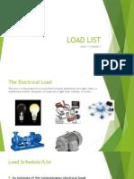 Load List Calculation