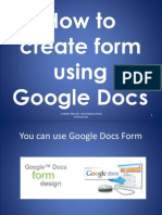 How to Create Form Using Google Docs