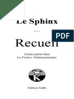 Le Sphinx - Recueil (Version Numérique)