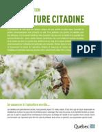 Fiche d'information sur l'apiculture en milieu urbain