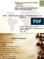 Coffee – an International Plan – Brief History and Current Evolution
