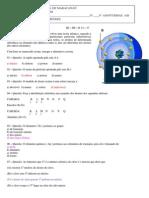 AVALIAÇÃO DE QUÍMICA 9º ANO ENSINO FUNDAMENTAL