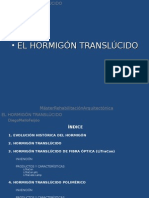 hormigon traslucido