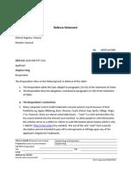 Seek Limited v Stephen Fang (FCA) VID373/2015 Defense Statement