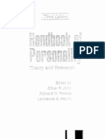 Handbook of Personality - Theory and Research (3rd)