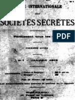 Revue Internationale Des Sociétés Secrètes - 001