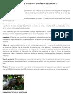 Principales Actividades Económicas de Guatemala