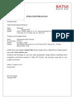 Surat Keterangan Kerja